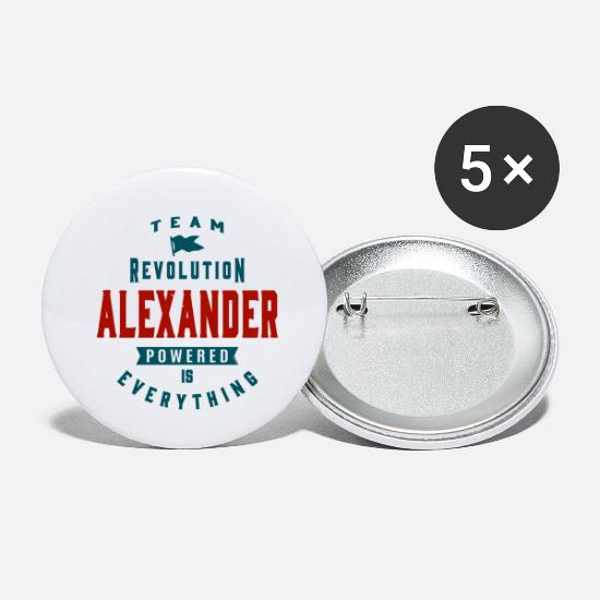 Alexander Buttons - Is Your Name, Alexander. This shirt is for you! - Small Buttons white