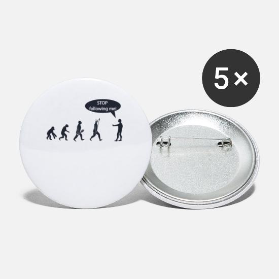 Cave Buttons - Stop Following Me - Small Buttons white