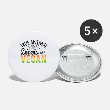 Animal True Animal Lovers Are Vegan - Small Buttons
