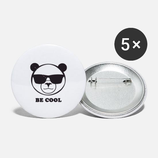 Panda Buttons - cute Panda cool Pandabear - Small Buttons white