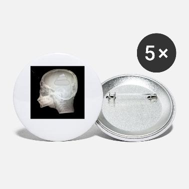Brain Brain Radiograph Results Tumor Cancer Decease Fun - Small Buttons