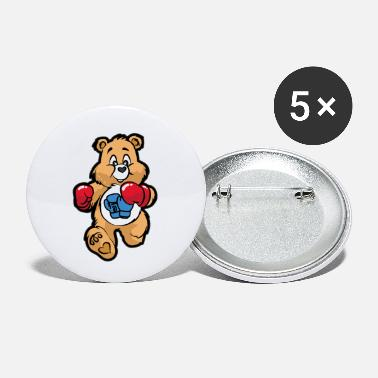 Aikido TEDDY BEAR BOXER Boxing Figher Son Daughter - Small Buttons