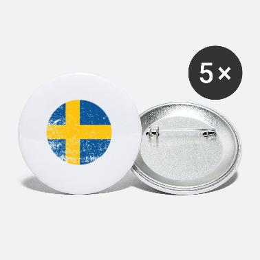 Meatball Swedish Flag - Small Buttons