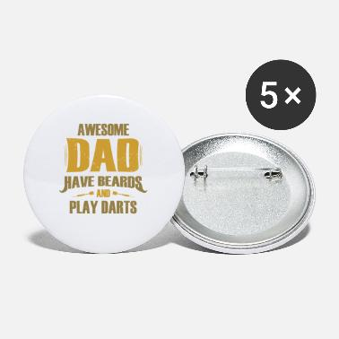 Darts Coach Beard Dad Darts Player Gift With Darts Arrows - Small Buttons