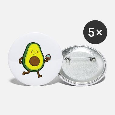 Bake Avocado cupcake muffin cake biscuit baking gift - Small Buttons
