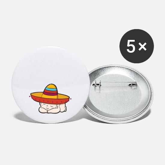 Funny Tacos For 2 Please Baby Pregnant Quote Buttons small 1\'\' (5-pack) -  white