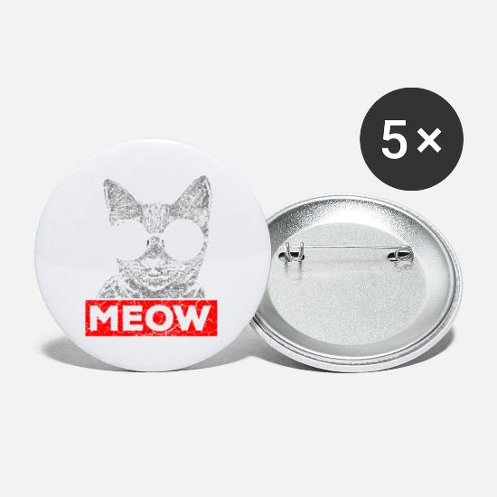 Animal Rights Activists Buttons - Cat Cats Lover Owner Animals - Small Buttons white