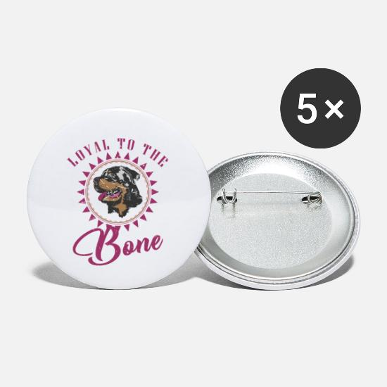 Gift Idea Buttons - Rottweiler dog breed owner dog gift - Small Buttons white