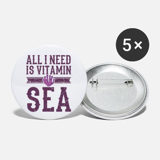 Scuba Buttons - Vitamin Sea Save The Coral Reefs Scuba Diver Gift - Small Buttons white