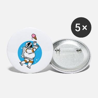 Spaceman Thick astronaut with ice cream - Small Buttons