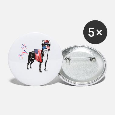 Sam Funny Boston Terrier Uncle Sam Patriotic Farts - Small Buttons