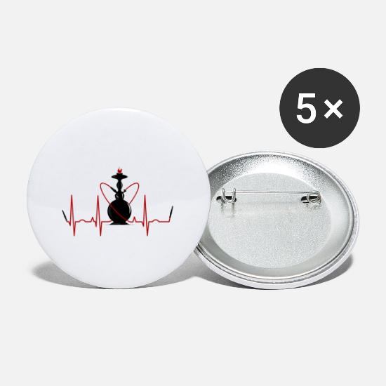 Shisha Buttons - Shisha water pipe life love - Small Buttons white