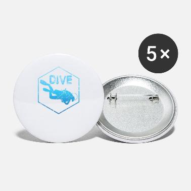 Diving Dive Diving - Small Buttons