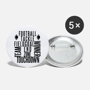 I Love Football American Football - Small Buttons