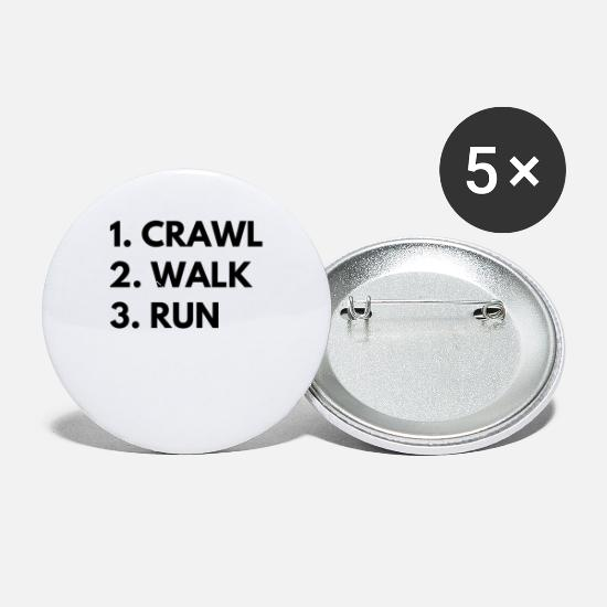 Strong Buttons - Crawl Walk Run - Small Buttons white