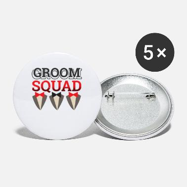 Groomsmen Marriage Bachelor Party Stag Night Bridegroom - Small Buttons