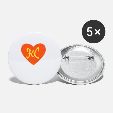 I Heart Football Women's Football I Love Kansas City Heart KC - Small Buttons