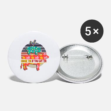 Smoker Smoke Em If you Got Em Retro Smoker BBQ - Small Buttons
