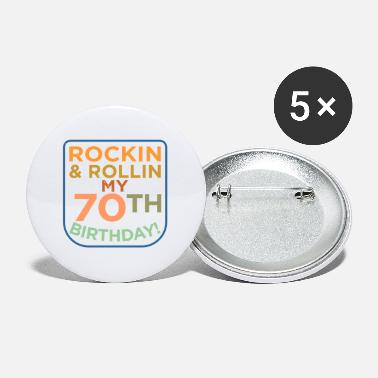 70th 70th Birthday - Small Buttons
