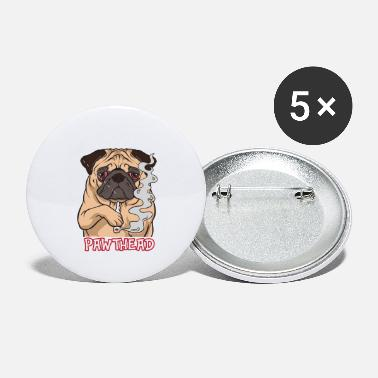 Cannabis Marijuana - Dog Pawthead Funny Cool Pug - Zoo - Small Buttons