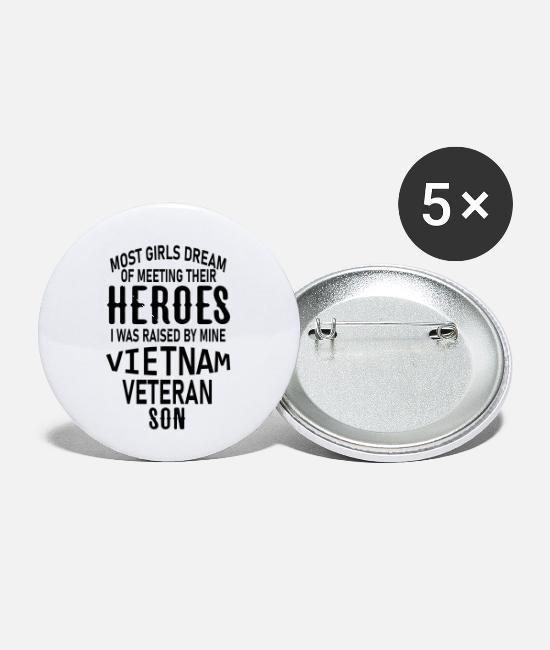 Vietnam Buttons & Pins - most girls dream of meeting their heroes i was rai - Small Buttons white