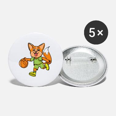 Fox Basketball Player - Small Buttons