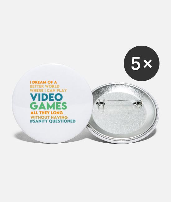Video Game Buttons & Pins - Video game - Small Buttons white
