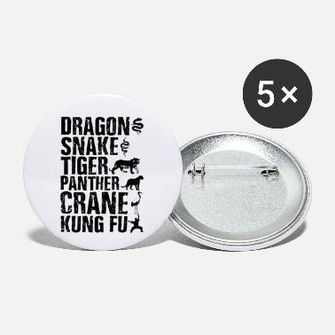 Karate Dragon Snake Tiger Panther Kung Fu Martial Arts - Small Buttons