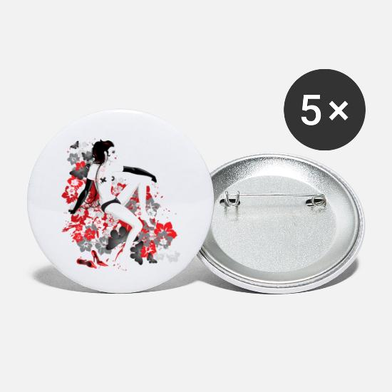 Flowers Buttons - Dystopic Dancer - Small Buttons white