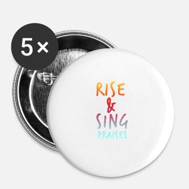 Rise and Sing Praises - Bible Verse - D3 Designs Duffel Bag - black