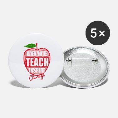 Rally love teach inspire apple crimson dist chicago - Small Buttons