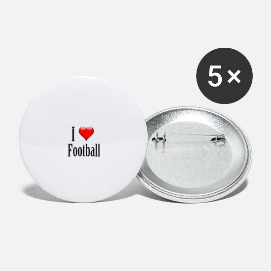 Country Buttons - I love football. Just great! - Small Buttons white