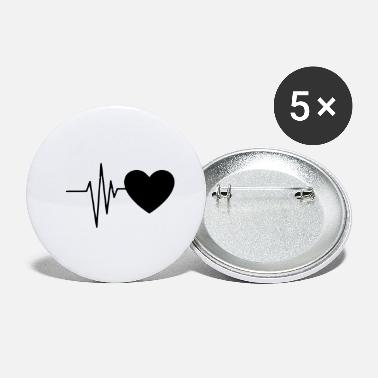 Heart Line Heart line / heartbeat with heart symbol - Small Buttons