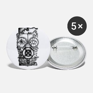 Protect Gas Mask Toxic Waste Pollution Climate Change - Small Buttons