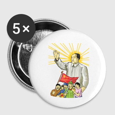 Mao Waves to the People - Small Buttons