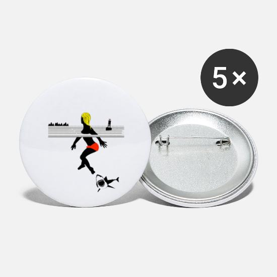Attack Buttons - shark attack - Small Buttons white
