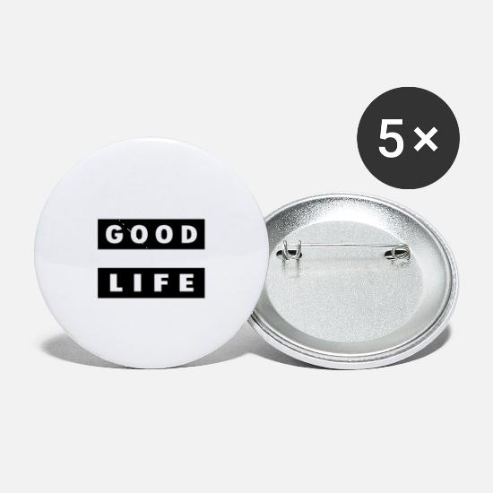 Print Buttons - Good Life - Small Buttons white
