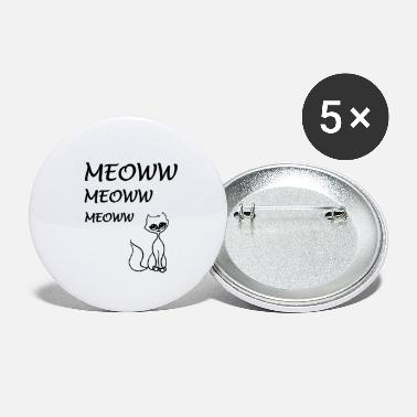 Homedecor cat meoww - Small Buttons