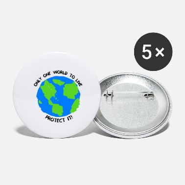One World - Small Buttons