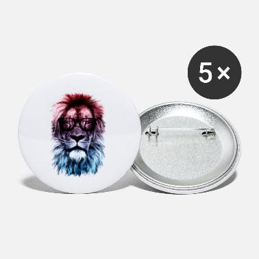 Hipster Hipster lion - Small Buttons