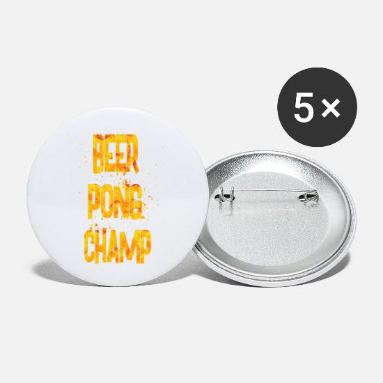 College Buttons - beer pong champ - Small Buttons white