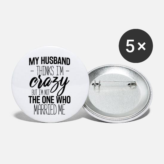 Anniversary Buttons - Wife And Husband - Small Buttons white