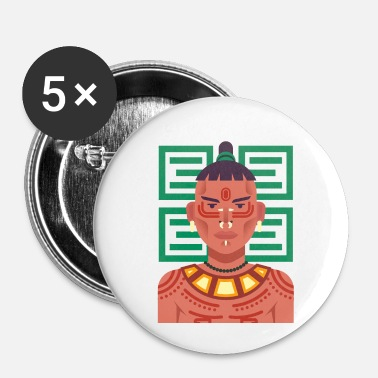 Indigenous Indigenous People Illustration - Small Buttons