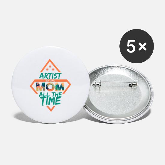 Birthday Buttons - Best Artist - Small Buttons white