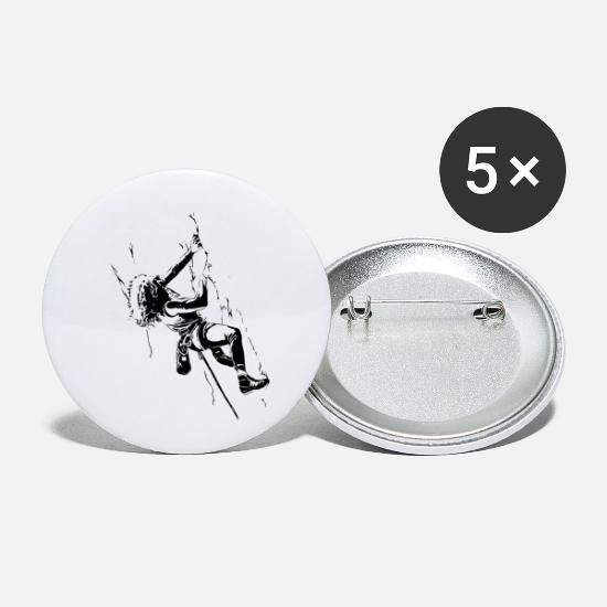 Sport Climbing Buttons - Fight Gravity - 80s Climbing - Small Buttons white
