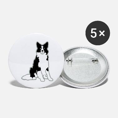 Chien Border Collie - Small Buttons