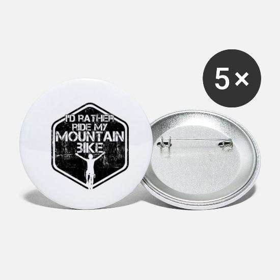 Mountain Biking Buttons - Mountain Biking - Small Buttons white