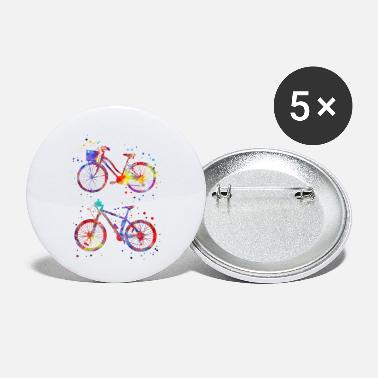 Bicycle Bicycles, watercolor bicycles - Small Buttons