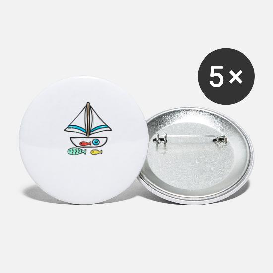 Gift Idea Buttons - Sailing Boat - Small Buttons white