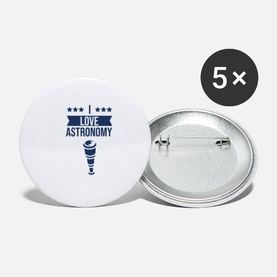 Astronaut Buttons - Astronaut Roket Spaceman Astronomy Planet - Small Buttons white